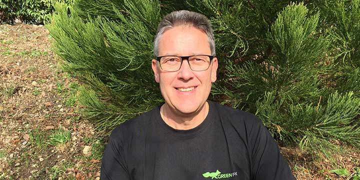 Roli Greutmann de l'équipe de la Green Fox Service SA